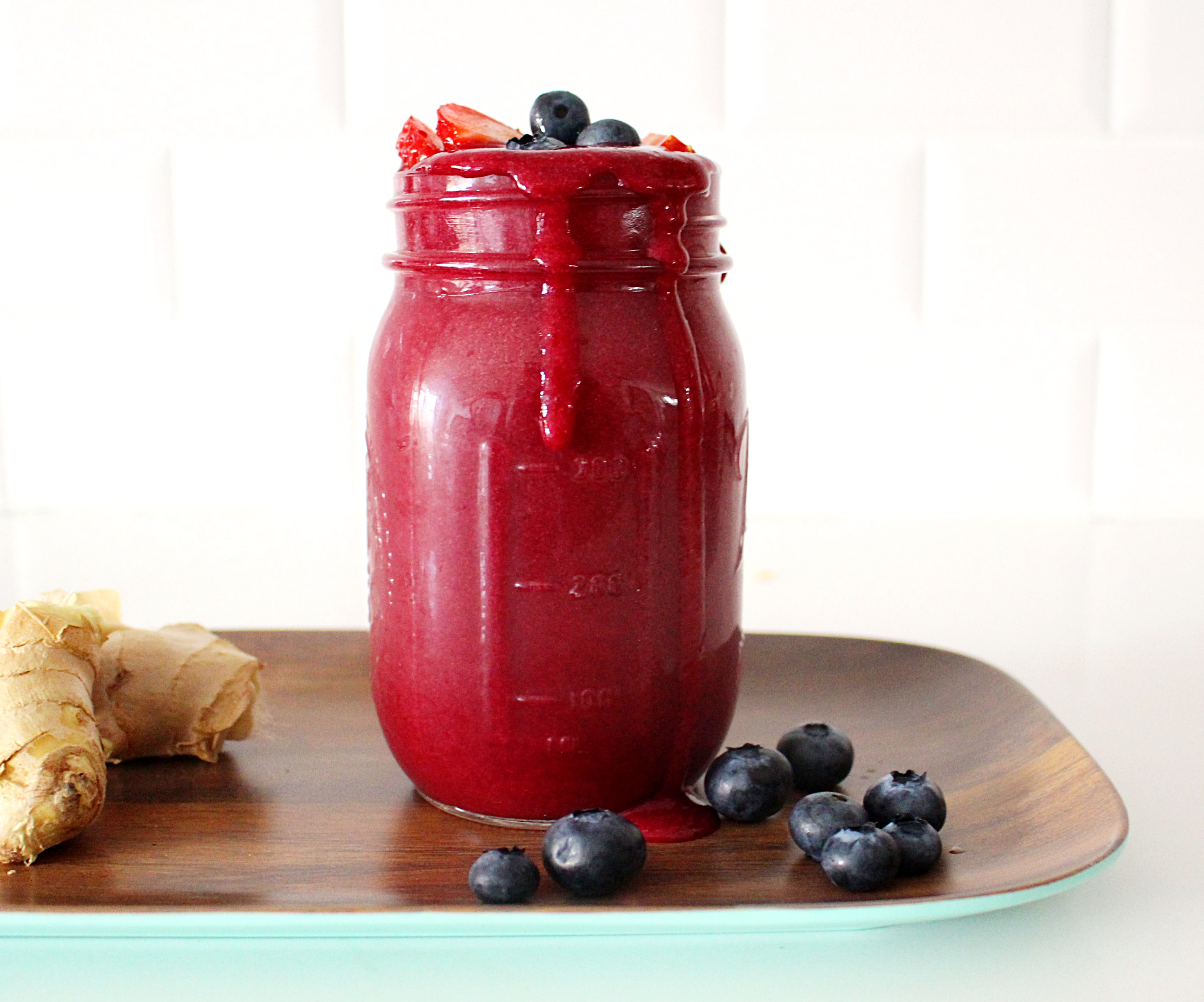 berry beet ginger superfood smoothie