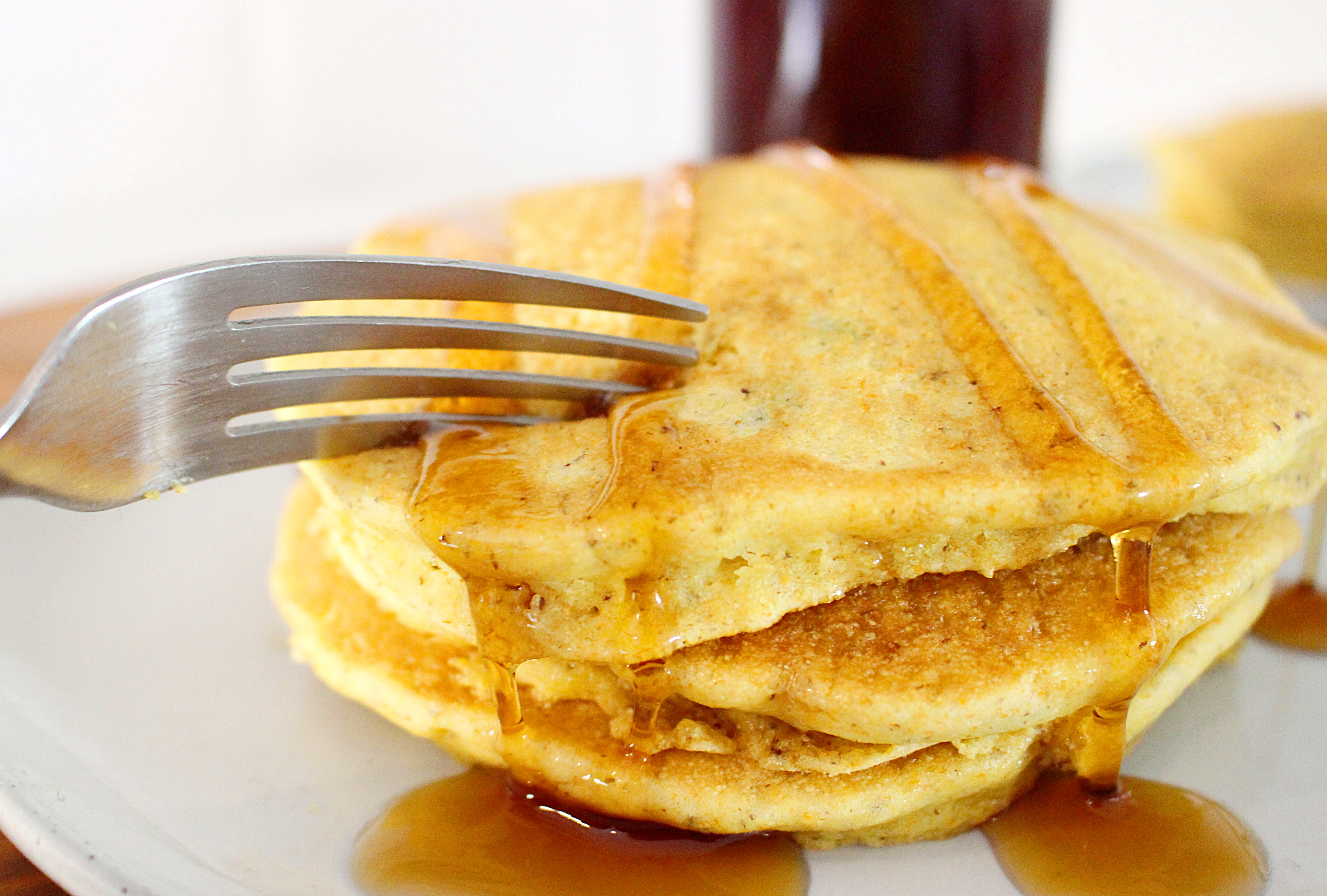 Upgrade Morning Pancakes With Cornbread and Jalapeno Maple Syrup